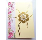 Handmade birthday greeting card - a lady