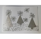 Hand-crafted Chrismas Card - Silver Christmas Tree