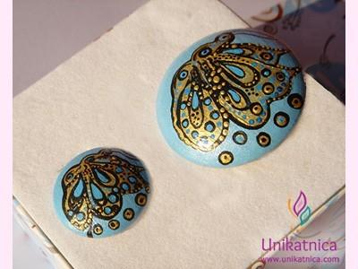 Butterfly brooches and rings - sets